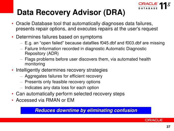 Data Recovery Advisor (DRA)