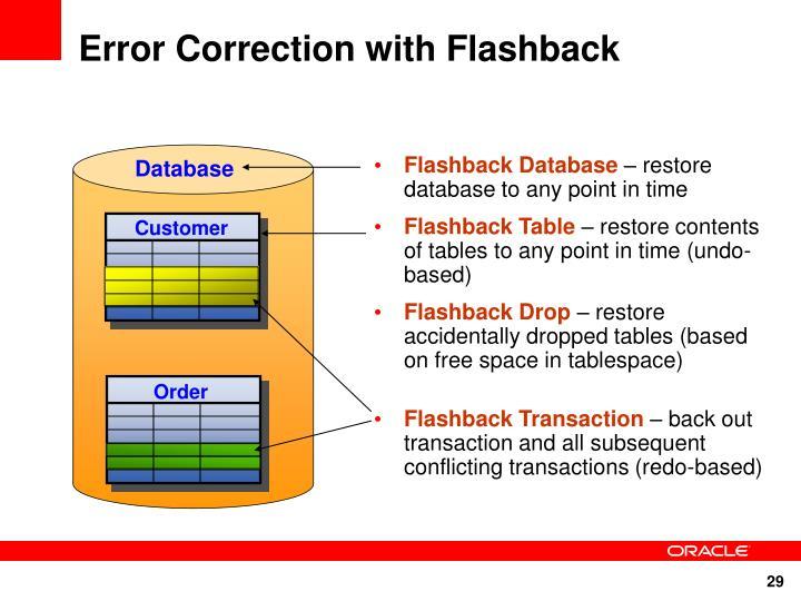 Error Correction with Flashback