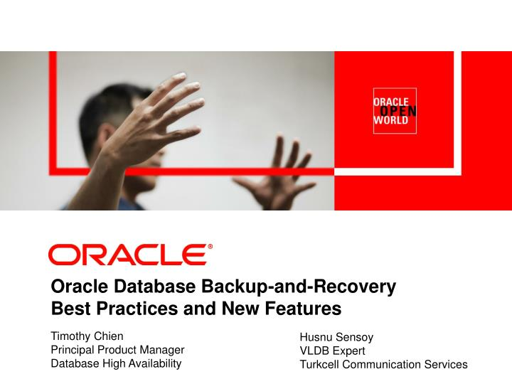Oracle Database Backup-and-Recovery