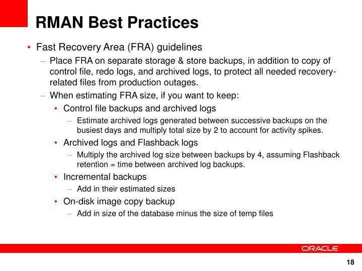 RMAN Best Practices