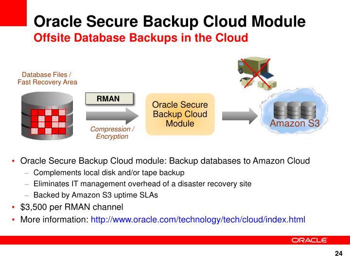 Oracle Secure Backup Cloud Module