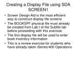 creating a display file using sda screen1