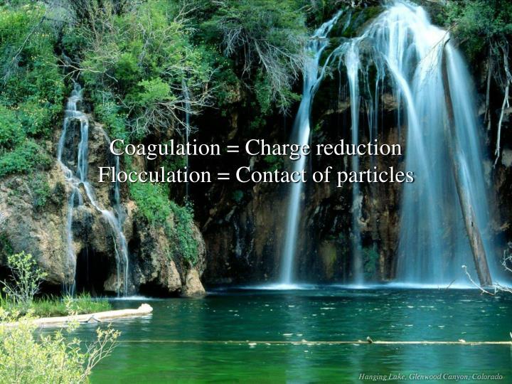 Coagulation = Charge reduction