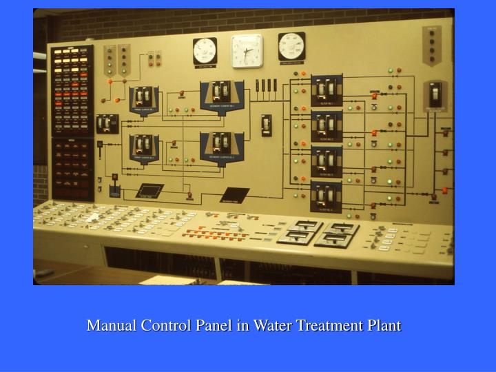 Manual Control Panel in Water Treatment Plant