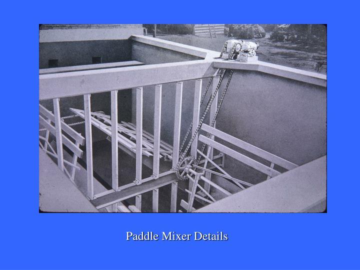 Paddle Mixer Details