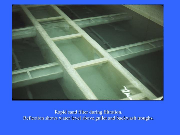 Rapid sand filter during filtration.