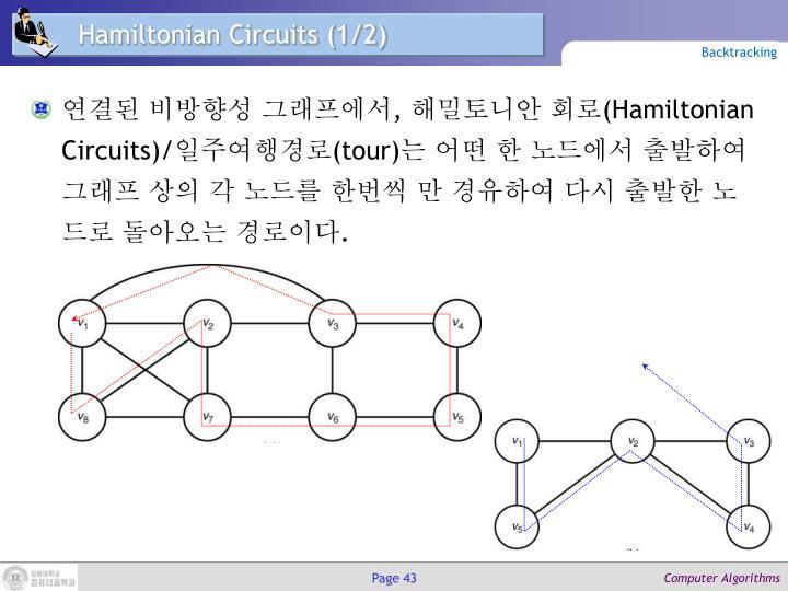 Hamiltonian Circuits (1/2)
