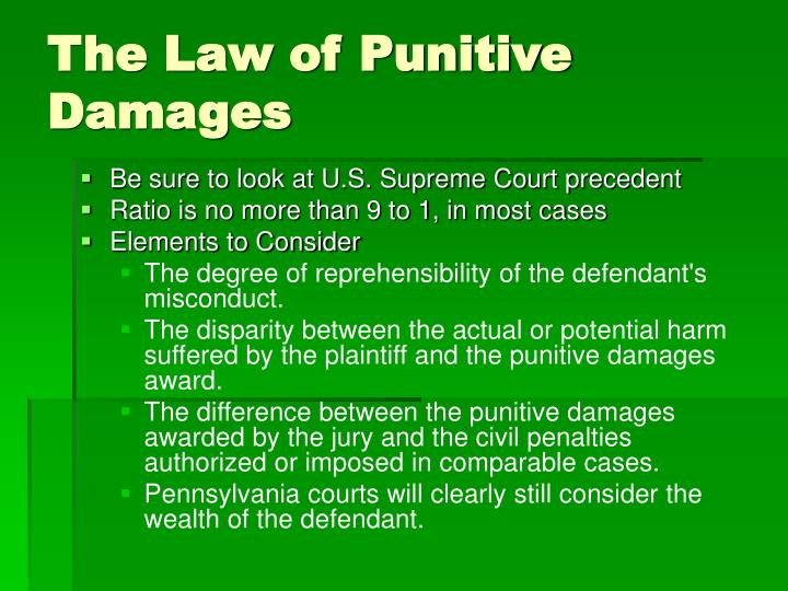 The Law of Punitive Damages