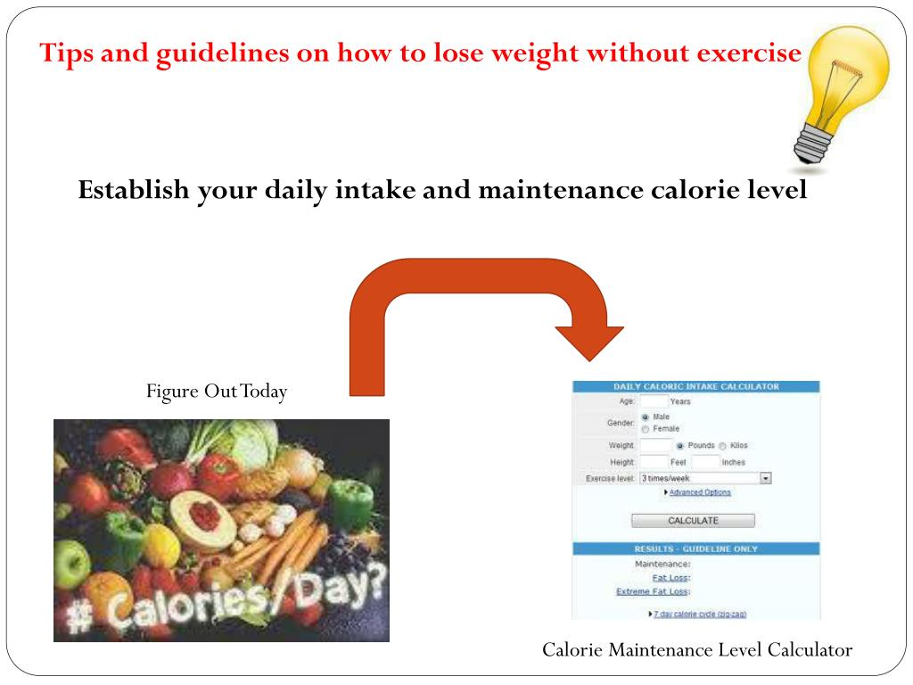 Tips and guidelines on how to lose weight without exercise