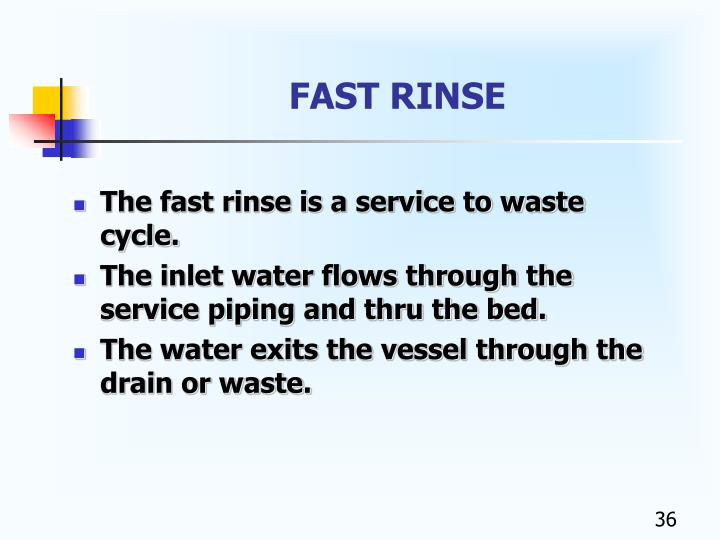 FAST RINSE