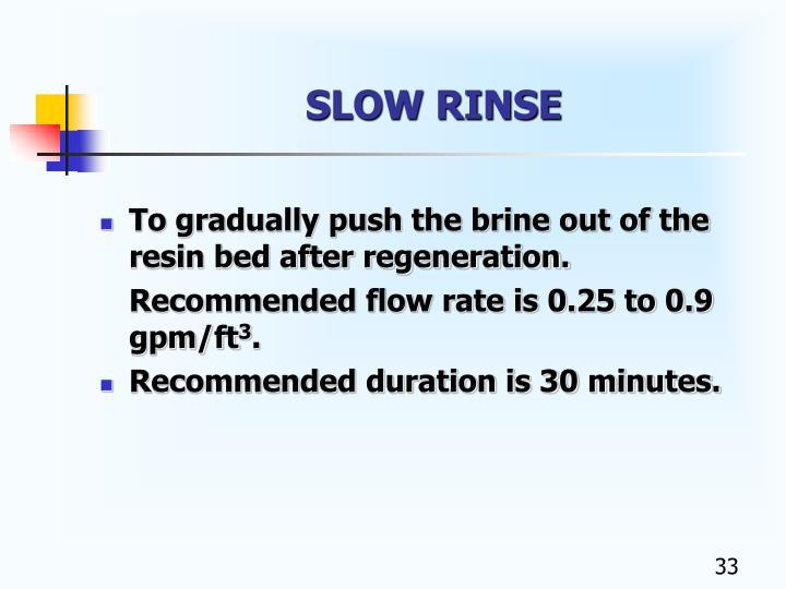 SLOW RINSE