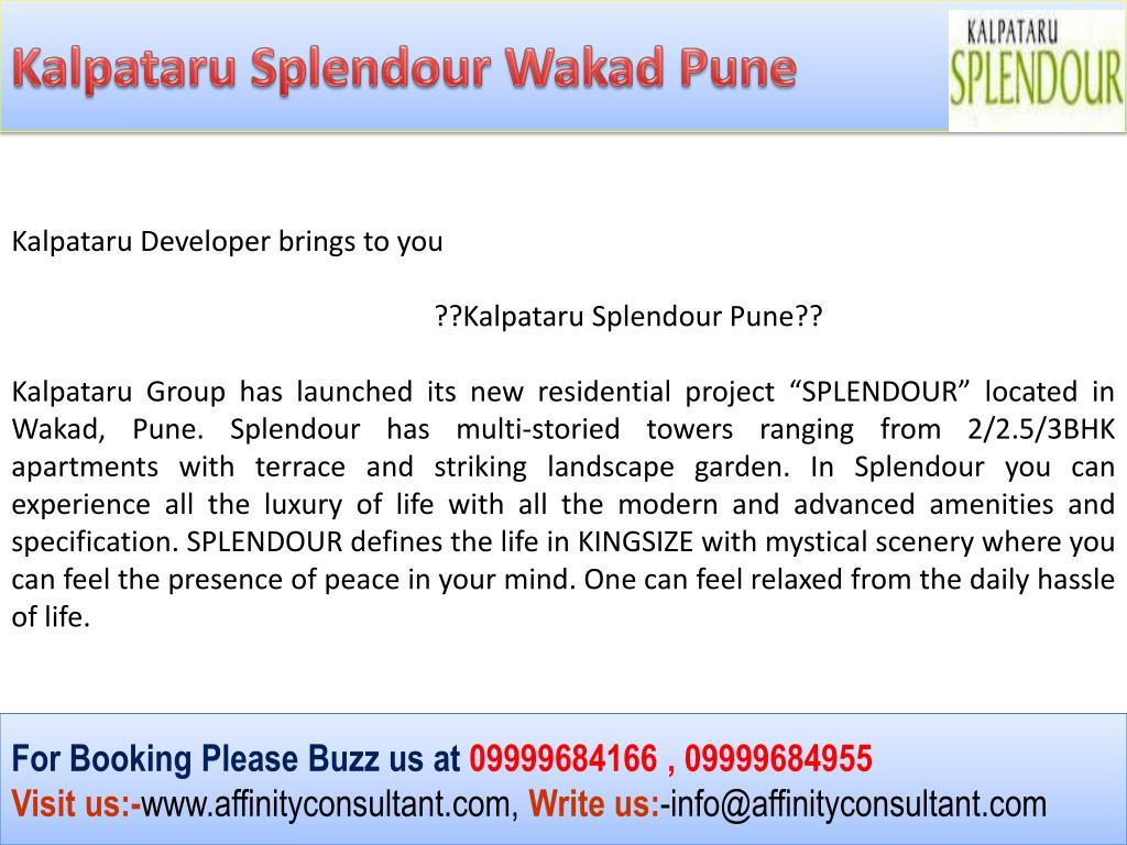 Kalpataru Splendour Wakad Pune