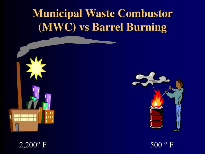 Municipal Waste Combustor (MWC) vs Barrel Burning