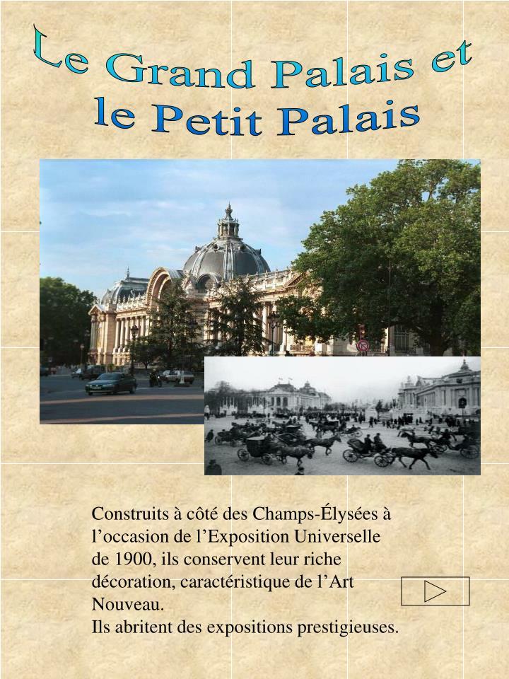 Le Grand Palais et