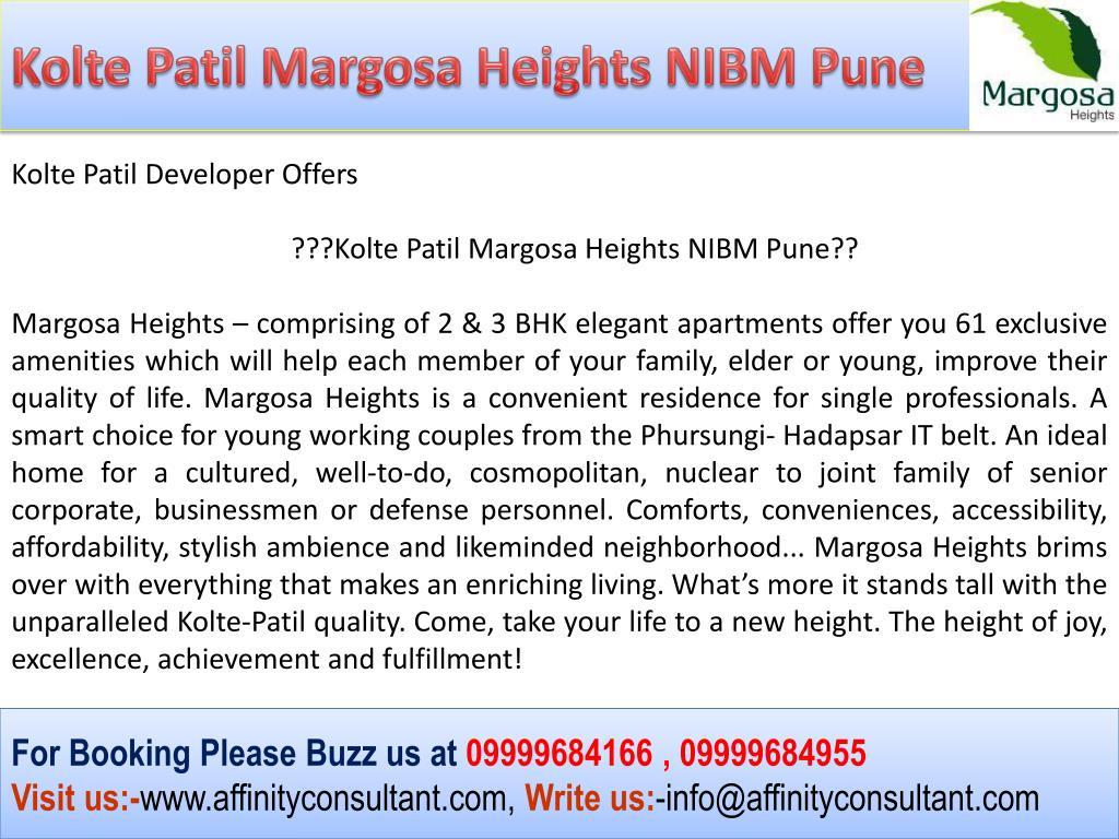 Kolte Patil Margosa Heights NIBM Pune