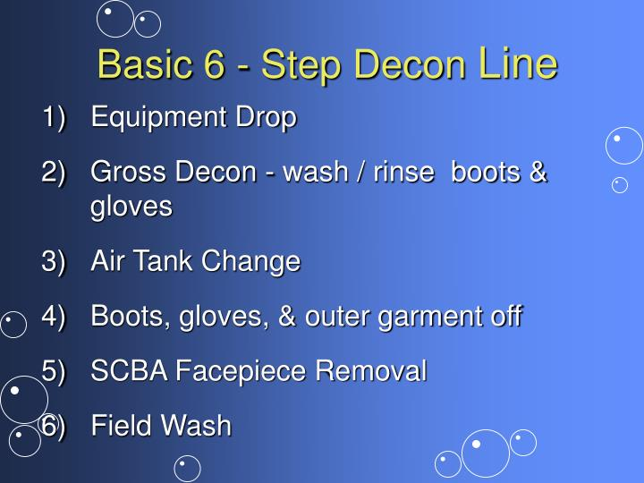 Basic 6 - Step Decon