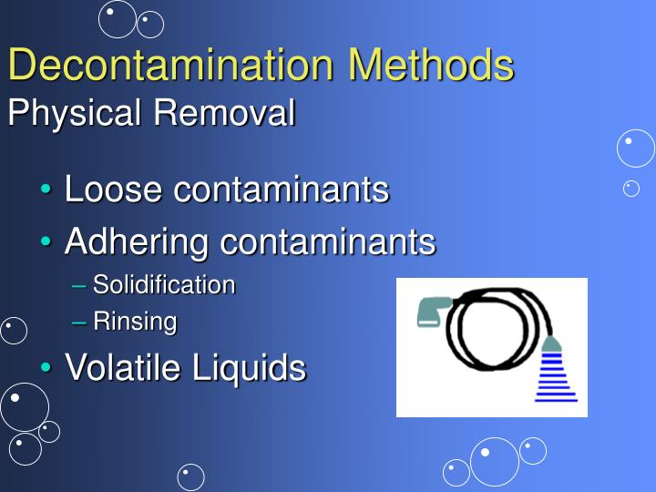 Decontamination Methods