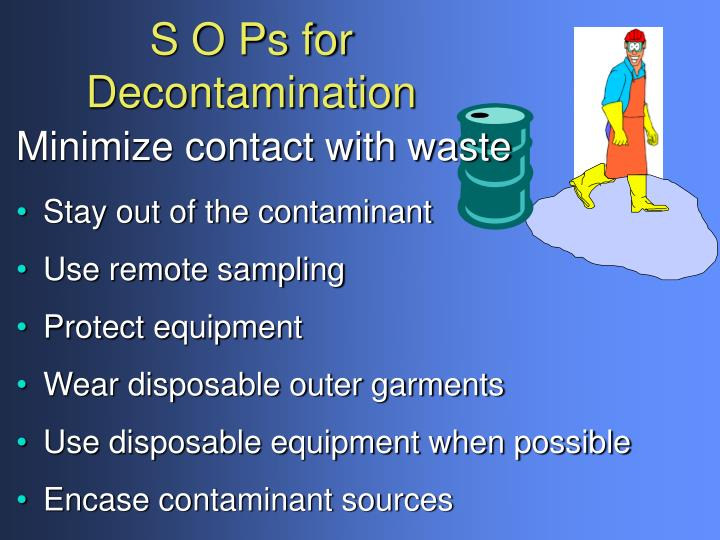 S O Ps for Decontamination