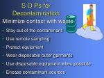 s o ps for decontamination