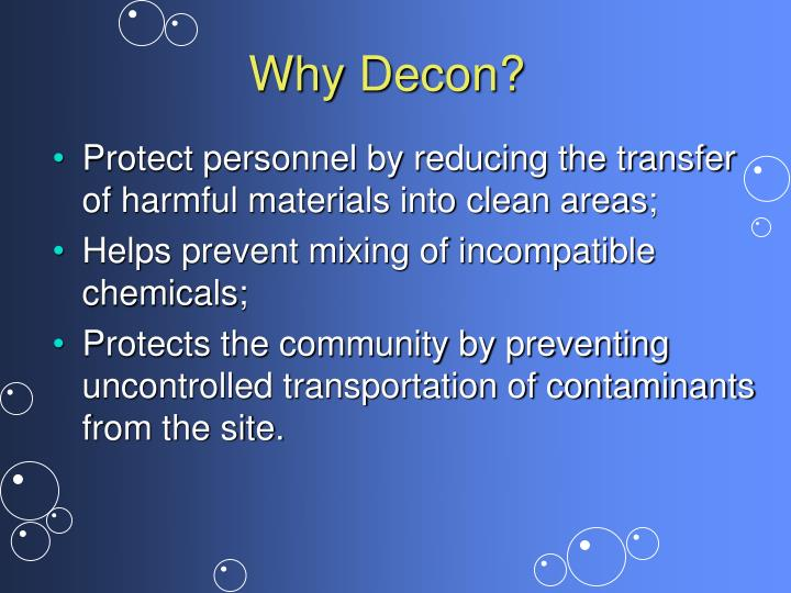 Why Decon?