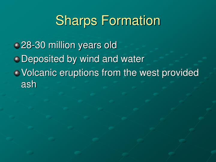 Sharps Formation