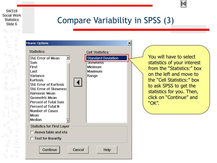 Compare Variability in SPSS (3)