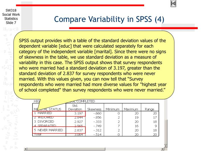Compare Variability in SPSS (4)