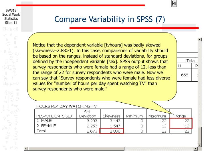 Compare Variability in SPSS (7)