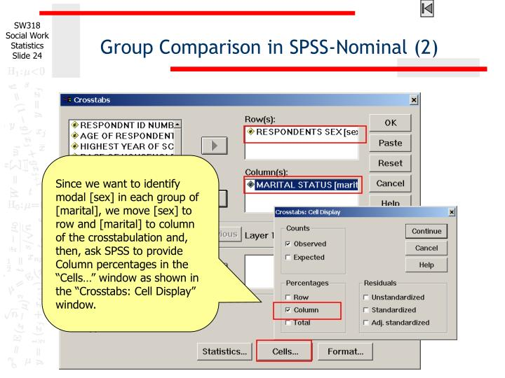 Group Comparison in SPSS-Nominal (2)