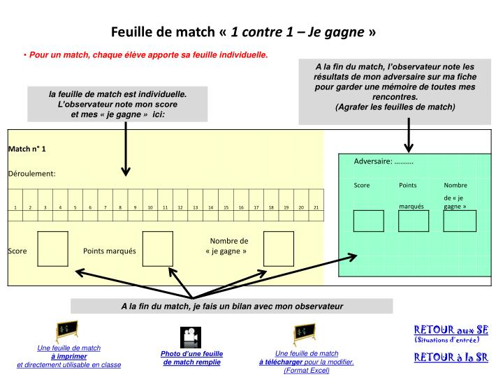 Feuille de match «