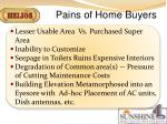 pains of home buyers