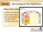 re configure your apartment