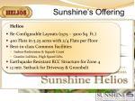 sunshine s offering