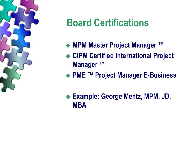 Board Certifications