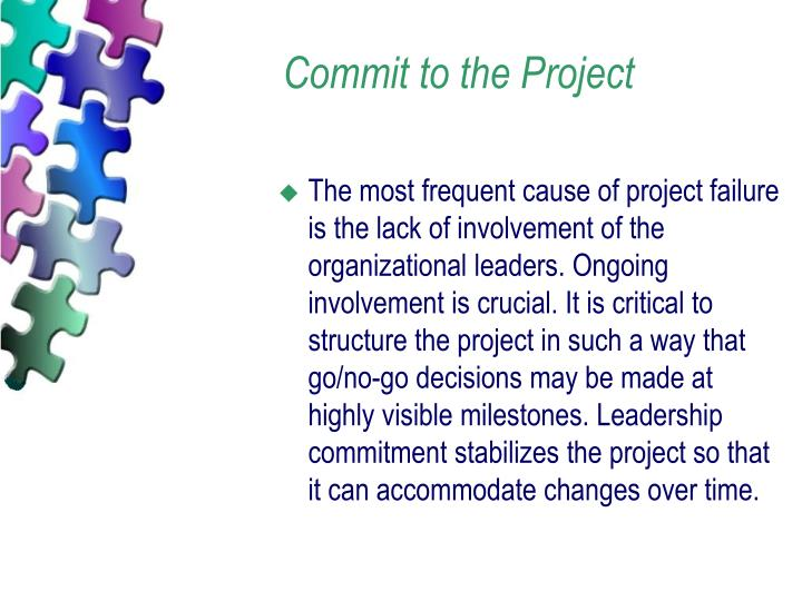 Commit to the Project