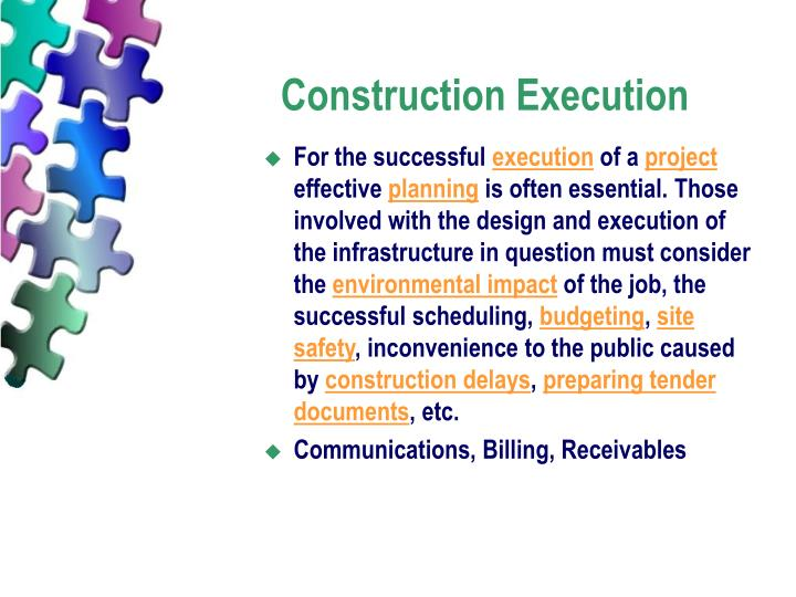 Construction Execution