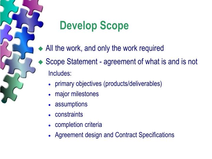 Develop Scope