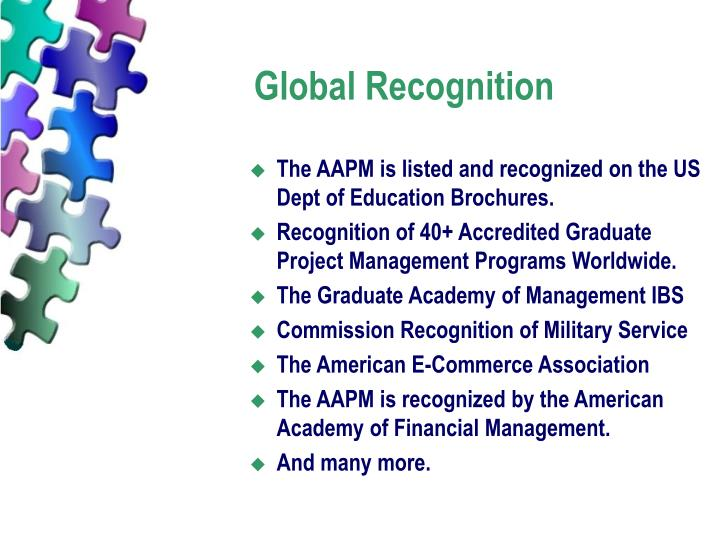 Global Recognition