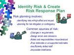 identify risk create risk response plan