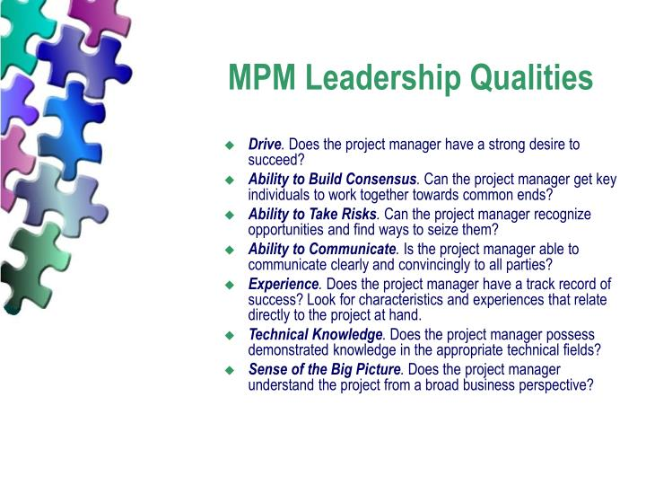 MPM Leadership Qualities