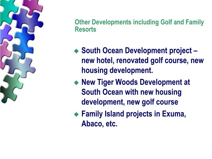Other Developments including Golf and Family Resorts