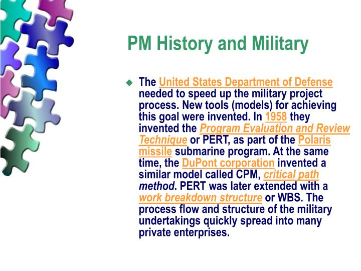 PM History and Military