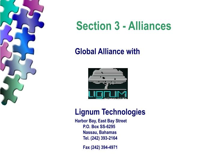 Section 3 - Alliances