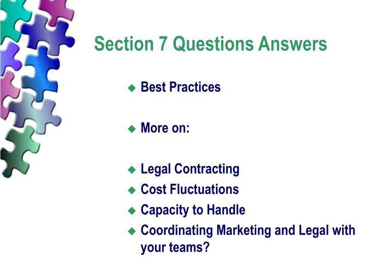 Section 7 Questions Answers