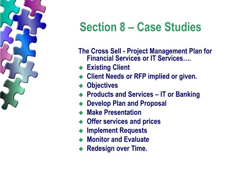 Section 8 – Case Studies
