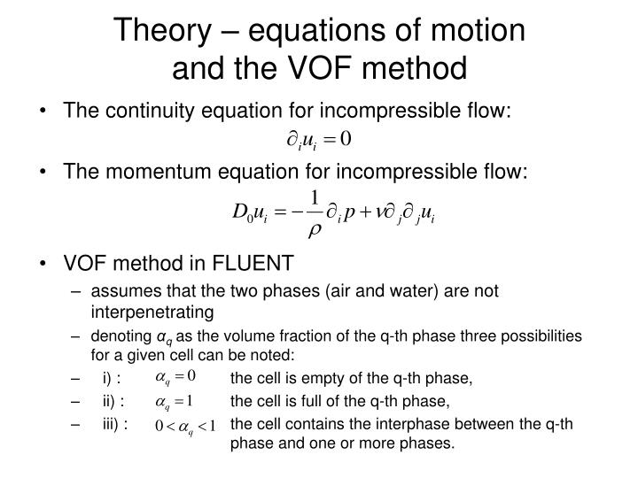 Theory – equations of motion