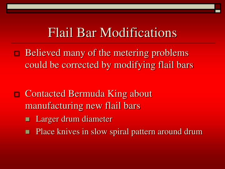 Flail Bar Modifications