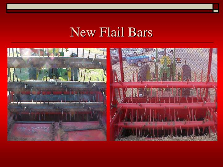 New Flail Bars
