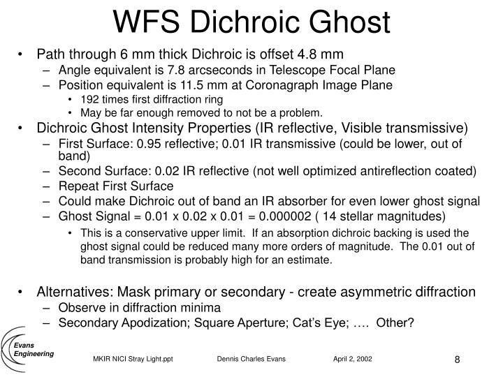 WFS Dichroic Ghost