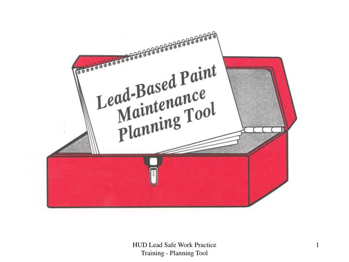 HUD Lead Safe Work Practice Training - Planning Tool